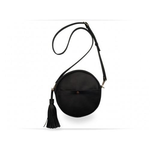 Wellbags Black Bag Circle кожаная сумка
